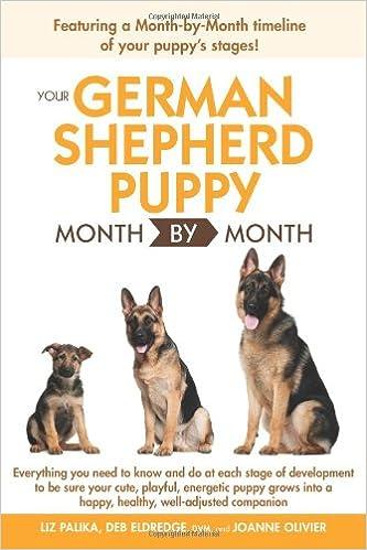 Your German Shepherd Puppy Month By Month Liz Palika Dvm Debra