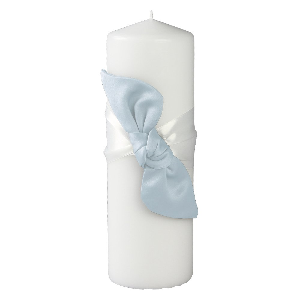 Ivy Lane Design Love Knot Pillar Unity Candle, Light Blue