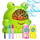 Bubble Machine for Kids - Portable Durable Automatic Bubble Blower with Over 500 Bubbles Per Minute - Birthday and Christmas Party Gifts for Children - Outdoor and Indoor Toy - Battery Operated