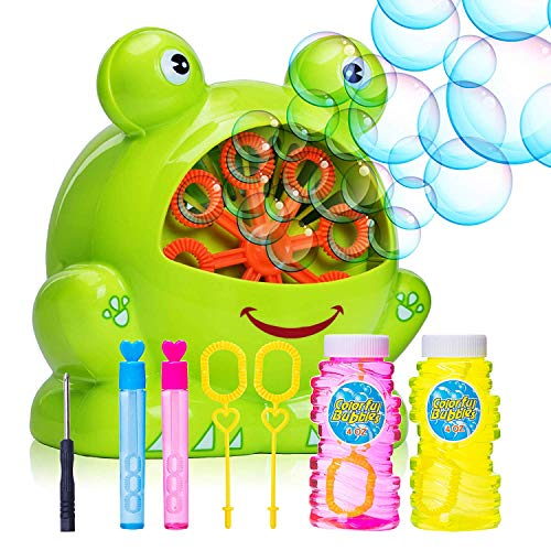Foozzilla Bubble Machine for Kids - Portable Durable Automatic Bubble Blower with Over 500 Bubbles Per Minute - Birthday and Christmas Party Gifts for Children - Outdoor and Indoor Toy - Bubble Childrens