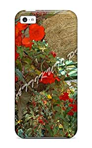 New Style Case Cover ORfeJFw18016GOMTW Red Haniging Flowers Nature Flower Compatible With Iphone 5c Protection Case