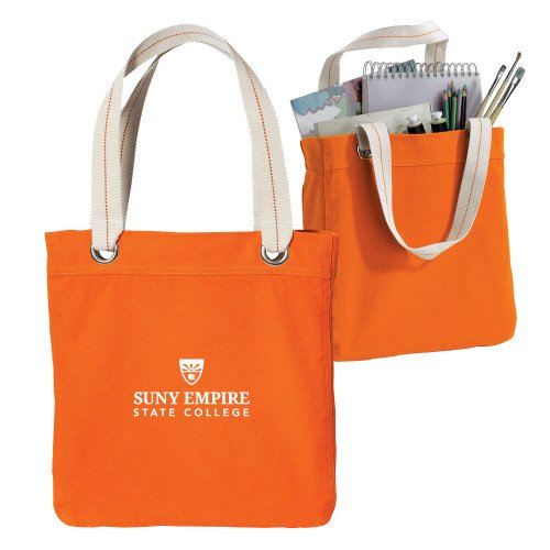 SUNY Empire Allie Orange Canvas Tote 'Primary Mark' by CollegeFanGear