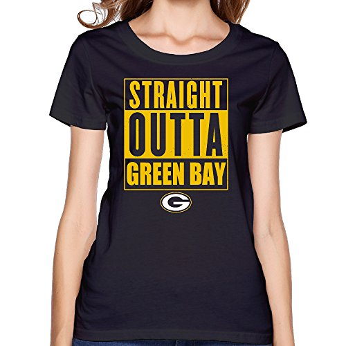 NORAL Green Bay Sport Football Team Women's Crewneck Tee Black Size XL