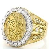 Kyпить 10k Solid Yellow Gold Mens Zodiac CZ Ring - Leo - Size 11.50 на Amazon.com