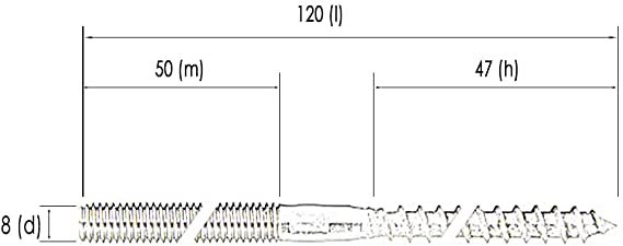 30x Stockschrauben A2 M8x120 Edelstahl 9082 Holz metrisches Gewinde Solar Wand
