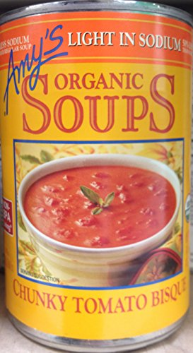 Organic Chunky Tomato Bisque - Amy's Organic Soups Light in Sodium Chunky Tomato Bisque 14.5oz Can (Pack of 7)
