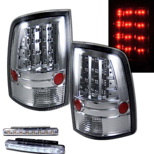 2009–2010 Dodge Ram Bremse hinten Rücklicht alle chrom + LED Bumper ...