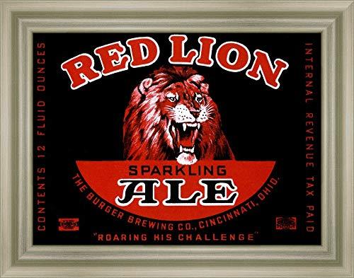 Canvas Art Framed 'Red Lion Ale' by Vintage Booze Labels ()