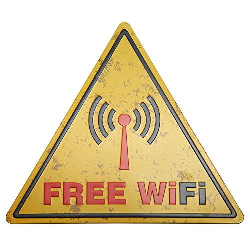Best New Deco Free Wifi Tin Signs Triangle Metal Borad Decorative Signs