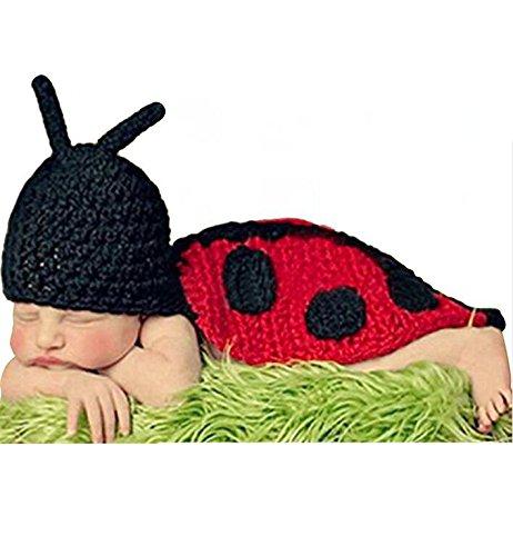 AKAAYUKO Bebé Recién Nacido Hecho A Mano Crochet Foto Fotografía Prop (Mariquita) grprops-83