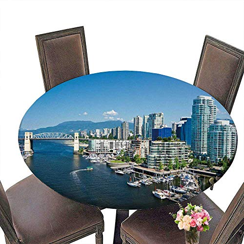 PINAFORE Picnic Circle Table Beautiful View of Vancouver British Columbia Canada for Family Dinners or Gatherings 55