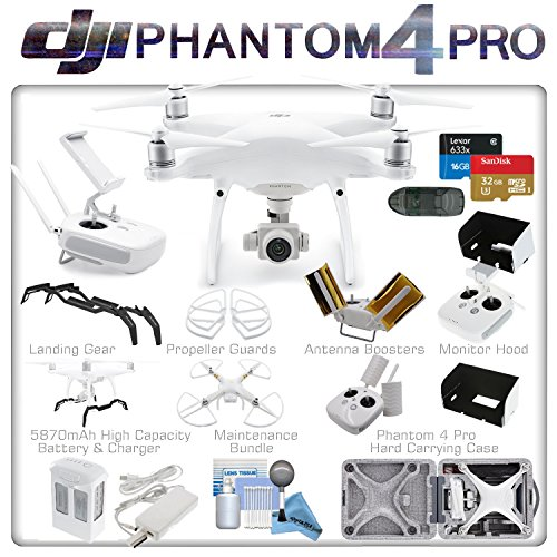 DJI Phantom 4 Pro Quadcopter (DJI CP.PT.000488) w/ eDigitalUSA Intelligent Flight Bundle
