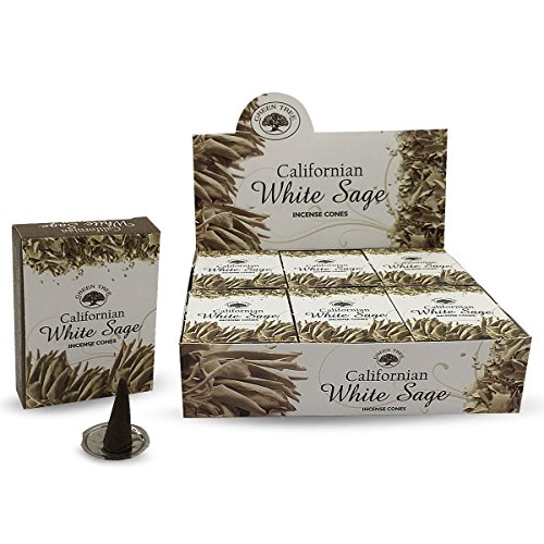 (Find Something Different Green Tree California White Sage Natural Masala Incense Cones 12 Boxes of)