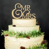 Mr and Mrs Wedding Cake Toppers Wood Party Cake Decoration Bride And Groom Love