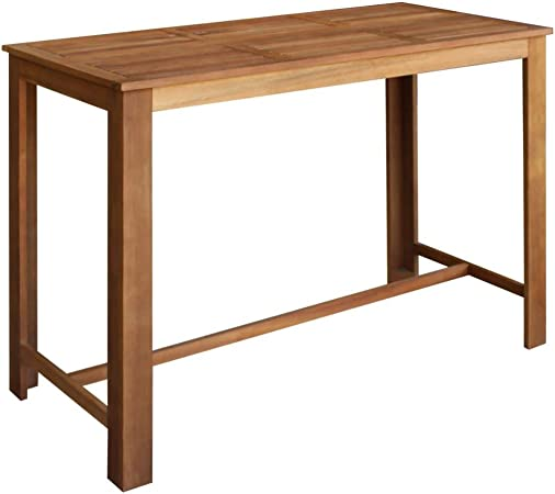 Festnight Bar Table Solid Acacia Wood 150x70x105 Cm Amazon Co Uk Kitchen Home