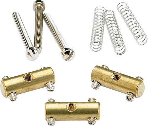 - Fender Pure Vintage Tele Bridge Sections/Saddles Brass, Set of 3