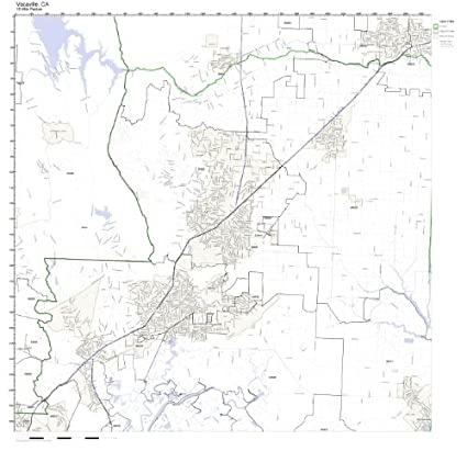 Map Of California Vacaville.Amazon Com Vacaville Ca Zip Code Map Laminated Home Kitchen