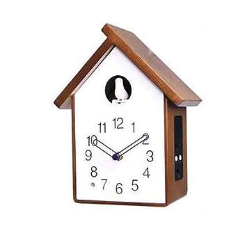 Cuco Música Reloj De Cuco-Madera Maciza Reloj De Pared Continental Aves Niños Relojes-Sala De Estar Dormitorios: Amazon.es: Hogar