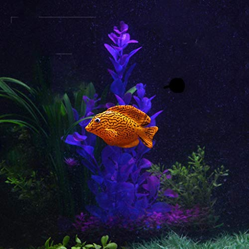 Hot Sale!DEESEE(TM)Plastic Swimming Faux Fake Gold Fish Aquarium Fish Tank Decor Orname Gift (B)