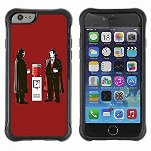 "A-type Arte & diseño Anti-Slip Shockproof TPU Fundas Cover Cubre Case para 4.7"" iPhone 6 ( Funny Vampire Illustration Art )"
