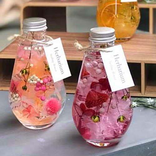 ビンの中におとじ込められたおしゃれな植物や花と液体 「ハーバリウム」電球型 2本セット お祝い 誕生日プレゼントやインテリアに癒やしの空間 B07CNKYWV2