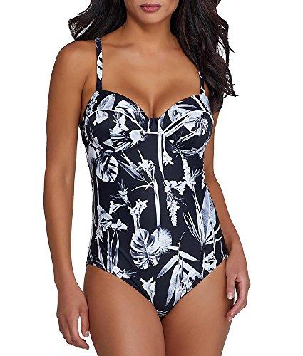 Fantasie Cocoa Island Bandeau Swimsuit, 34E, Tropic Black