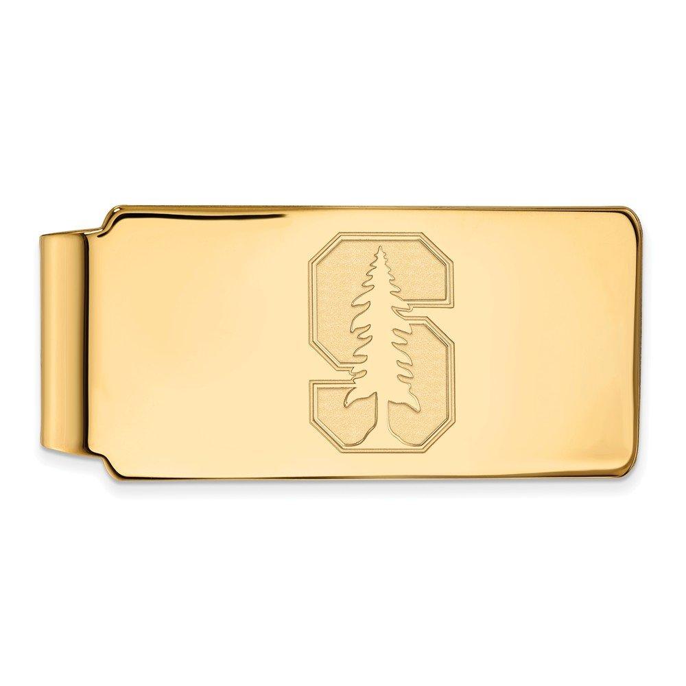 Jewel Tie 10k Yellow Gold Big Heavy Stanford University Money Clip 55mm x 26mm