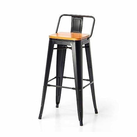 Amazon.com: Metal Bar Stools Kitchen Breakfast Dining Chair ...