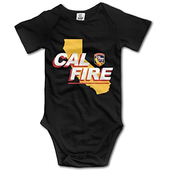 amazon com cal fire logo newborn baby outfit creeper short sleeves