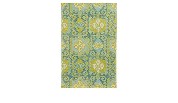 Tommy Bahama Jamison Blue Green Wool Area Rug 5 X8 5 X 8 Furniture Decor