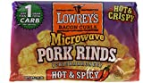 Lowrey's Bacon Curls, Microwave Pork Rinds (chicharrones), HOT & SPICY, 3 - 1.75-Ounce Packs.