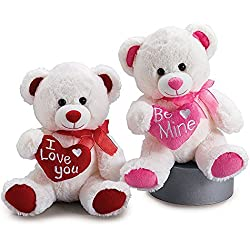 """Valentine's Day Teddy Bear Gift Set """"I Love You"""" and """"Be Mine"""""""