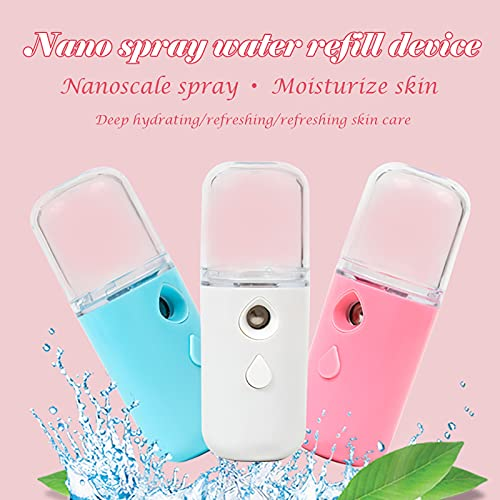 HXS Nano Facial Mister, Cool Mist 30ml Facial Handy Mist Sprayer, Mini Steamer for Face, Moisturizing & Hydrating for Skin Care, Makeup, Eyelash Extensions, Summer Gifts for women Girls
