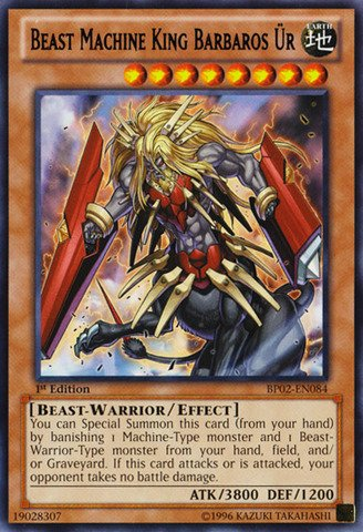 Yu-Gi-Oh! - Beast Machine King Barbaros Ür (BP02-EN084) - Battle Pack 2: War of the Giants - 1st Edition - Rare