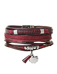 COOLLA Jewelry Fashion Women Bracelet Wrap Cuff Pendant Bangle with Magnetic Clasp