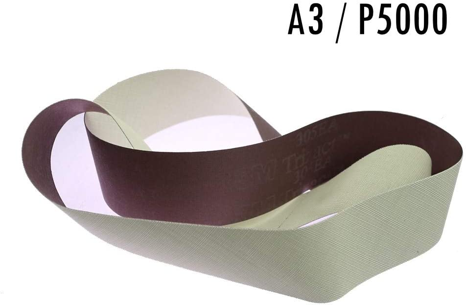 A16,686X50mm MOLINB Schleifpapier 3M Stoffg/ürtel 237AA Mittleres bis superfeines Schleifband