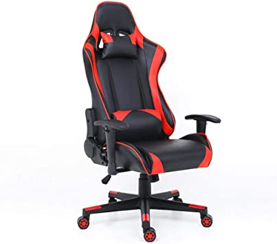 Racing Racing Chair Swivel Chair Gaming Game Chair Lift Lumbar Support and Headrest Computer Chair Home Office