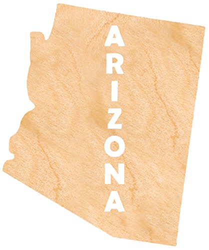 aMonogram Art Unlimited S98930-AZ-12 State Of Arizona Wooden Shape With State Name and 1/8 Burch plywood Wall Decor, 12''