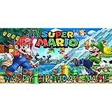 Super Mario Bros Birthday Party Banner Personalized/Custom Decoration