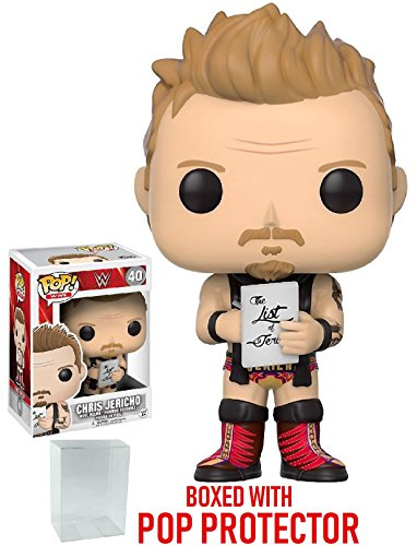 Funko Pop! WWE Chris Jericho Old School Vinyl Figure (Bundled with Pop BOX PROTECTOR CASE) by Funko