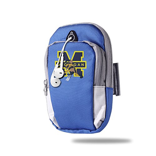 Price comparison product image CGHFW Michigan Wolverines Outdoor Sports Multifunctional Pockets Arm Bag Arm Pouch For Running Trekking Hiking Cycling Mounting Strolling Armband