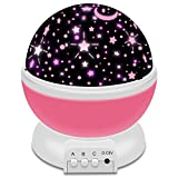 Star Sky Night Lamp, Constellation Night Light Star Sky, 360 Degree Rotation Colorful Moon Night Lamp Gift for Baby Kid Children Bedroom Nursery Decor (Pink)