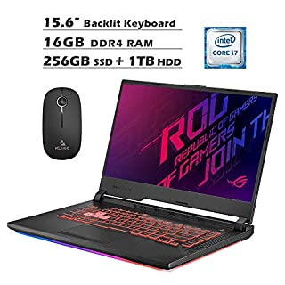 2020 Asus ROG 15.6 Inch 120Hz FHD 1080P Gaming Laptop| Intel 6-Core i7-9750H up to 4.50 GHz| GeForce GTX 1650 4GB| 16GB RAM| 256GB SSD (Boot) + 1TB HDD| Backlit KB| Win 10 + NexiGo Mouse Bundle