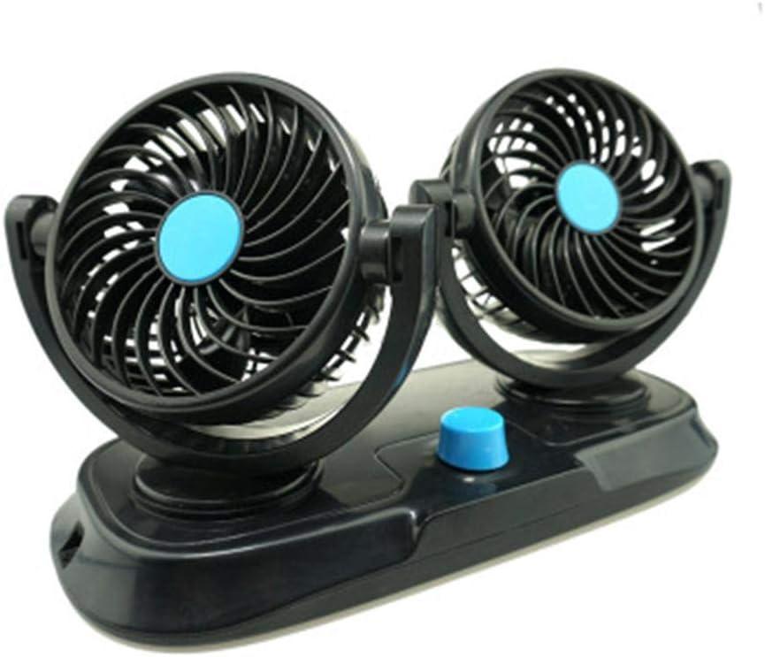 Hualieli Ventilador de coche de doble cabezal, 12 V, ventilador de ...