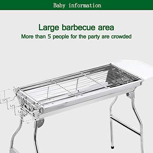 Petit barbecue, facile à transporter pour plus de 5 personnes, adapté au jardin familial Cuisine en plein air Camping Randonnée Pique-nique (blanc)