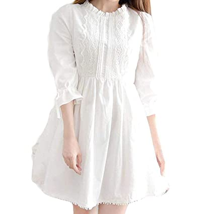 new release purchase newest highly coveted range of Amazon.com: Women White Dress - Lovely Sweet Girl Japanese ...