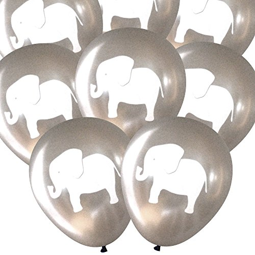 Elephant balloons (16 pcs) by Nerdy Words (Circus Themed Baby Shower)