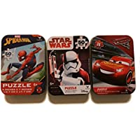 7776a6992c8 3 Collectible Girls Boys Mini Jigsaw Puzzles in Travel Tin Cases  Marvel  Disney Kids Star Wars Storm Trooper
