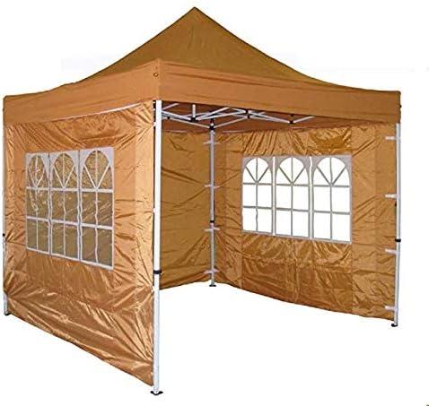 Delta 10 x10 Pop up 4 Wall Canopy Party Tent Gazebo Ez Burnt Orange – F Model Upgraded Frame Canopies