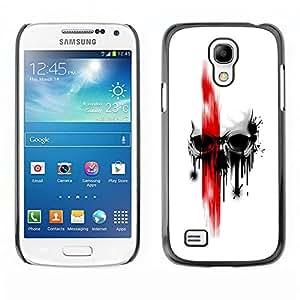 EJOY---Cubierta de la caja de protección la piel dura para el / Samsung Galaxy S4 Mini i9190 / --craneo Rojo